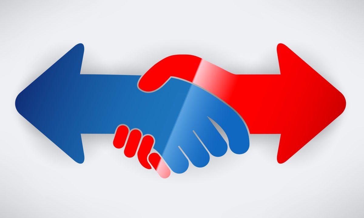 Handshake arrow